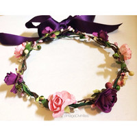 Purplink Rose Crown