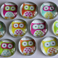 Set of 10 Mod Owl Magnets or Pushpins by littlebiteverything
