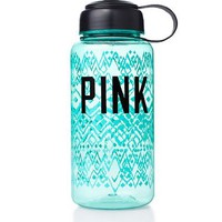 Victoria's Secret PINK Water Bottle SEAFOAM, 32. oz Pull Top + BONUS VS Decal