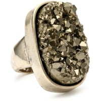 ABS By Allen Schwartz &quot;High Desert&quot; Gold-Tone Open Cut Stone Ring, Size 8