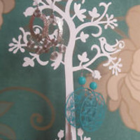 Earring holder tree stand - Jewellery Storage - WHITE  | eBay