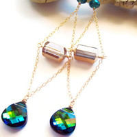 Swarovski Earrings Vintage Bead Spring