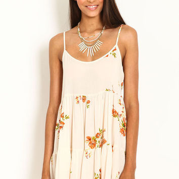 FLORAL RUFFLE CAMI DRESS