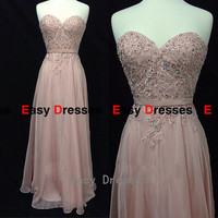 sweetheart dress long  dress  Prom dress Bridesmaid dress    Fashion dress  Party  Evening Dresses 2014
