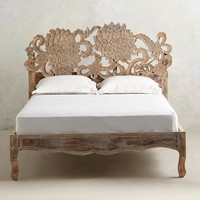 Handcarved Lotus Bed