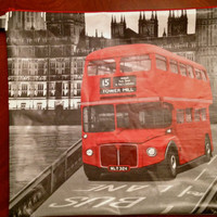 London Tower Hill Bus Large Vinyl Wristlet by MoleekOnes on Etsy