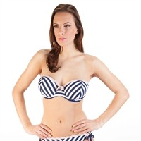 Betsey Johnson Juniors Stripe Away Convertible Push-Up Bra Bikini Top at Von Maur
