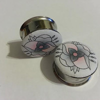 La Dispute Flower Plugs 2g 6mm - 2 inch 50mm