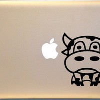 Moo Cow Macbook Decal Vinyl Sticker for Mac PC Laptop | KrazyKutz - Housewares on ArtFire