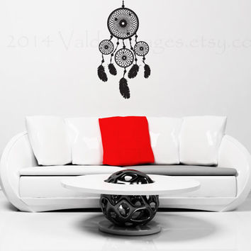 Dream catcher wall decal, wall sticker, wall art, wall graphic, living room decal, bedroom decal, vinyl decal, vinyl graphic decal, decal