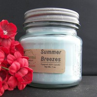 SUMMER BREEZES SOY CANDLE - HIGHLY SCENTED | AJsCountryCottage - Candles on ArtFire