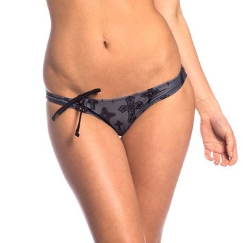 "SA ""Crosses"" Bandeau Bikini Bottom by Sullen Clothing (Grey)"