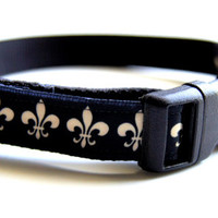 Fleer Di Lis Dog Collar Adjustable Sizes (XS, S, M)