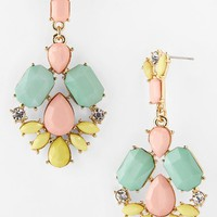 Topshop Multi Stone Drop Earrings