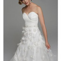 Organza strapless sweetheart white 2012 wedding dresses BAHD0042 - cheap price 2012 online shop for sale.
