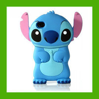 New 2012 Disney Cartoon 3D Stitch Movable Ear Flip Hard Case for i Phone 4 & 4S | eBay