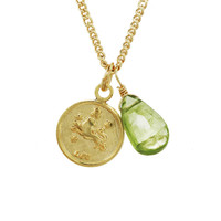 Leo Mini Coin Zodiac Necklace