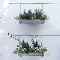 Industrial Hanging Planter