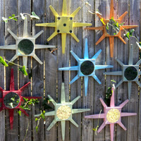 Set Of 6 Star Burst Wall Mirrors Beachy by TheSavvyShopper1