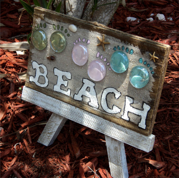 Beachy Weathered Wood Cottage Decor With by TheSavvyShopper1