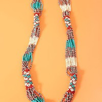 Santa Fe Beaded Necklace  in  What&#x27;s New at Nasty Gal