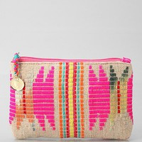 Woven Jute Makeup Bag- Assorted One