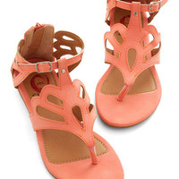 ModCloth What's the Loop? Sandal in Coral