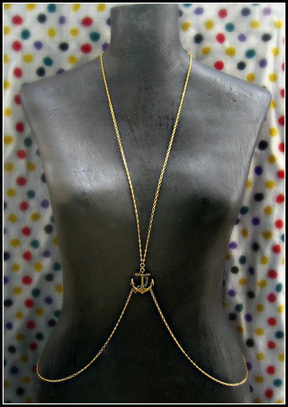 anchor body chain vest by alapopjewelry