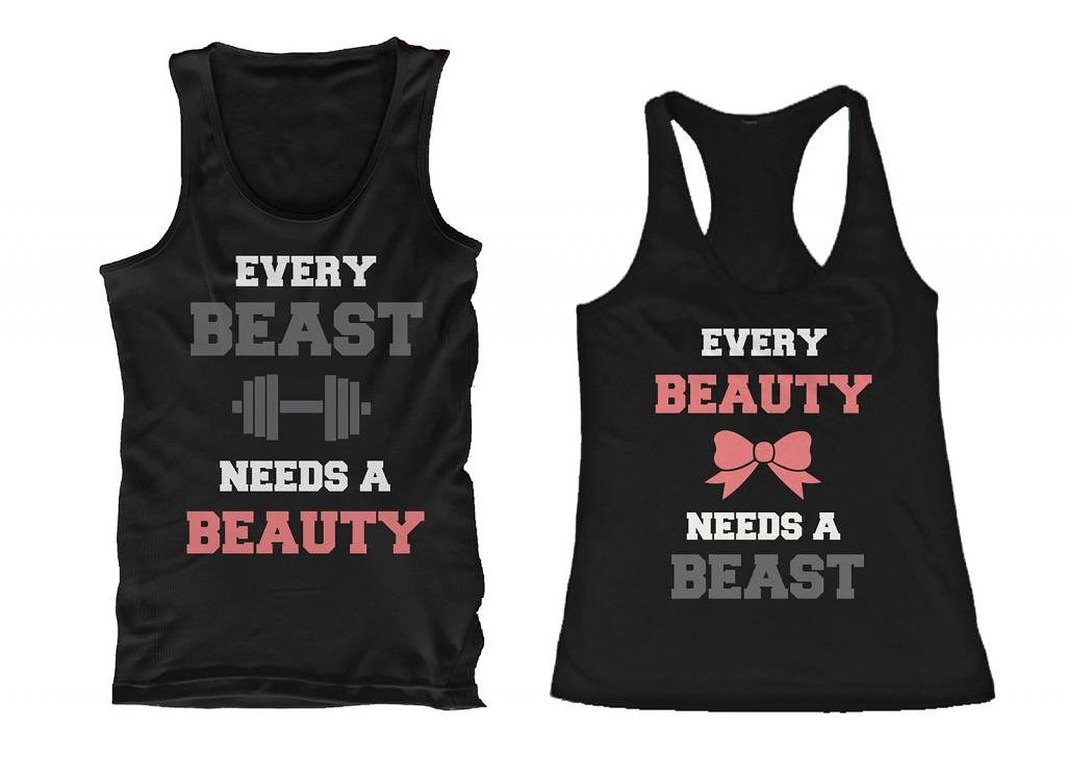 Cute Couple Shirts Matching couple shirts Matching Outfits Tank Tops Tanks Beauty and beast shirts Gym Shirts Workout Shirts Diy Shirt. His and Her Matching Tanks - Like a Beast - Like a Beauty - Sleeveless Tank Tops #BellaCanvas #TankTop. Find this Pin and more on Couples matching apparel by DA LEO'S CUSTOM SHIRTS.