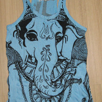 Women's size S Cute Yoga Outfit Tank Top Ganesha by letshugitout