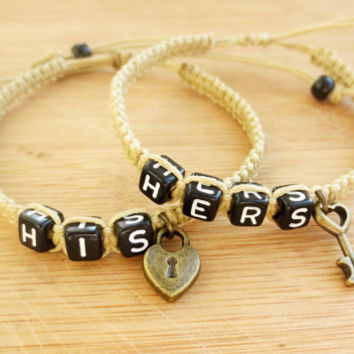 Couples Bracelets, His and Hers bracelet, Jewelry, Lovers Bracelets,Christmas gift, , Friendship Gifts