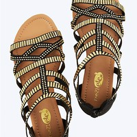Armor Stud Gladiator Sandals