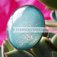 ocean water and summer sunlight ring pale blue by EverSoLovely