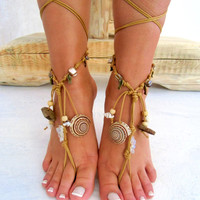 Barefoot Sandals Barefoot Beach  native america Jewelry barefoot sandal, Hippie Sandals Foot Jewelry Toe Thong