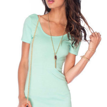 U Turn Ponti Dress in Mint :: tobi