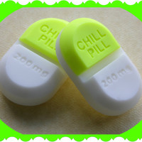 CHILL PILL SOAP - COCoNUT LiME - Gag Gift - Bridal Baby Shower - Doctor - Medical - Nurse - Mental Health - New Mom - Babysitter - Teens