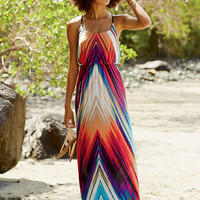 Elisa Printed Knit Maxi Dress