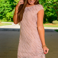 Sequin Party Dress, Blush