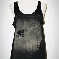 ET The Movie Black Singlet Tank Top Sleeveless by pleiadeshop
