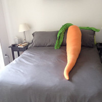 For The Lonely Bunny: Giant Carrot Body Pillow | Incredible Things