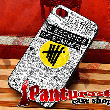 5SOS White Logo Collage - iPhone 4/4s/5/5s/5c - iPod 4/5 - Samsung Galaxy s2/s3/s4 Case