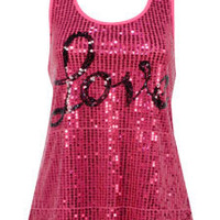 Love Sequin Swing Tank - Dots