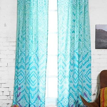 Plum & Bow Tie-Dye Curtain - Urban Outfitters