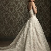 Buy Elegant Exquisite Lace &amp; Satin A-line Sweetheart Wedding Dress