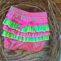 Baby Ruffled Bloomers, Diaper Cover Size 18 Months(6/12months) | Luulla