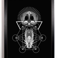 Death Trap Art Print, Altered Engraving 13 x 19 inches from Nine Lives Artistry