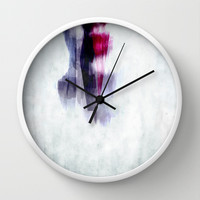 Kiss Wall Clock by SensualPatterns