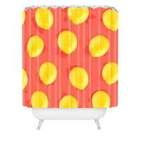 Jacqueline Maldonado Watercolor Lemons Shower Curtain