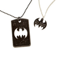 DC Comics Batman My Hero Dog Tags Necklace Set