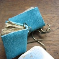 $15.48 Sea time mini book earrings by anticovalore on Etsy